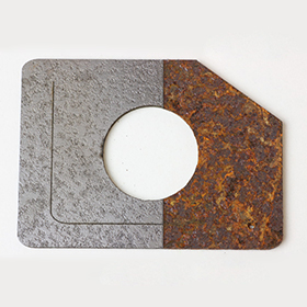 Can rusty iron plate be cut directly by laser cutting machine?